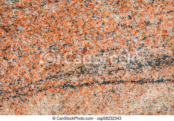 Granite, basalt or marble stone crystal texture of polished gravestone. The macro shot is made by means of stacking technology - csp58232343