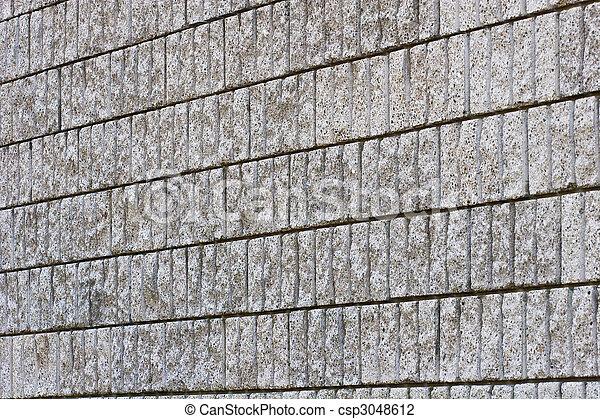 Granite Block Wall on Angle - csp3048612
