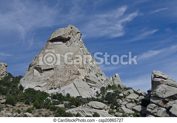 Granite Formations in the City of Rocks - csp20865727