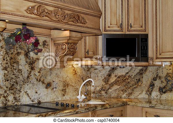 granite kitchen counters - csp0740004 & Granite kitchen counters. Beautiful granite stone in kitchen counter ...