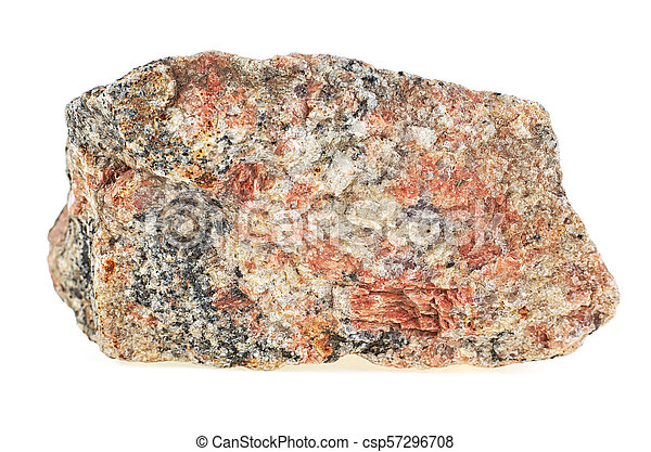 Granite stone isolated over white background - csp57296708
