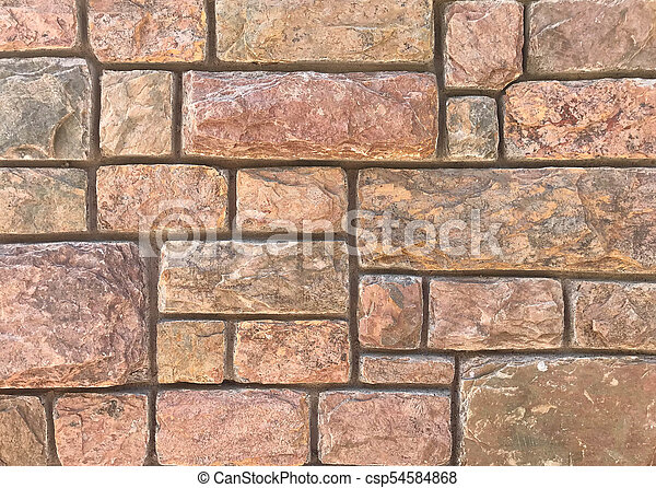Granite stone wall texture and background - csp54584868