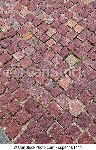 Pavers de granito rojo - csp44101411