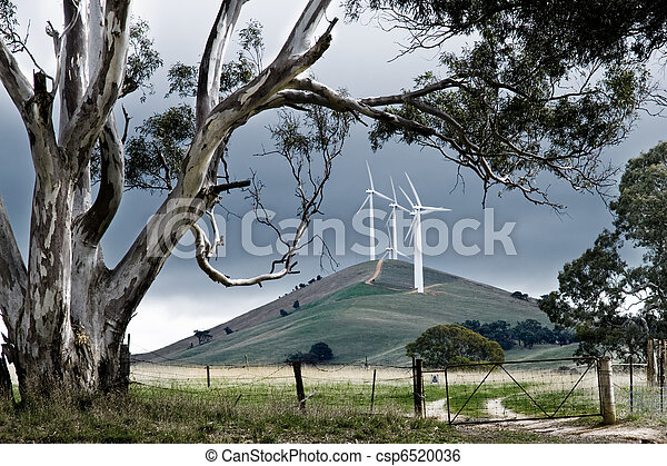 Granja de viento australiana - csp6520036