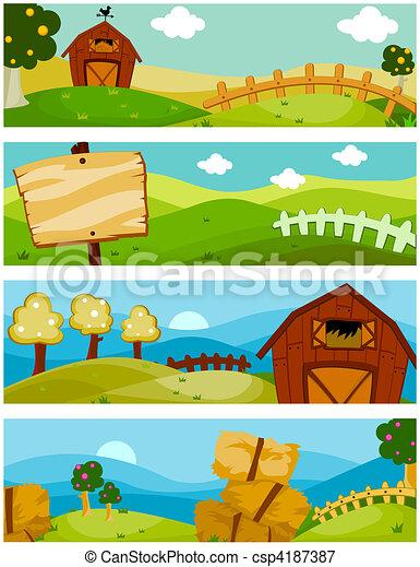 granja, banderas - csp4187387