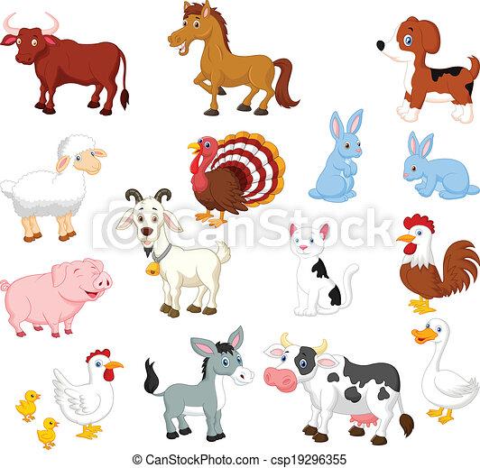 Una colección de animales de granja - csp19296355