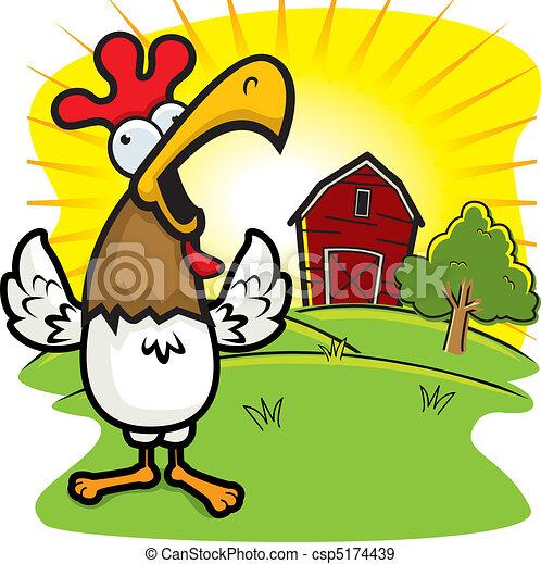 Granja de gallos - csp5174439