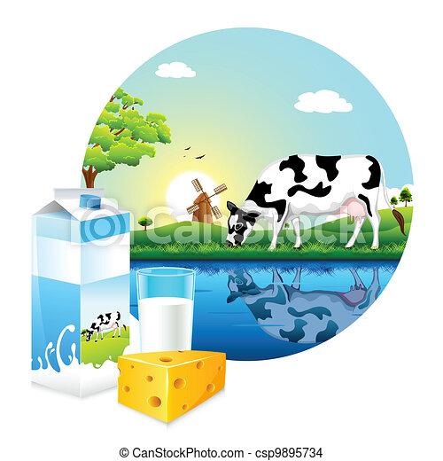 La granja de la leche - csp9895734