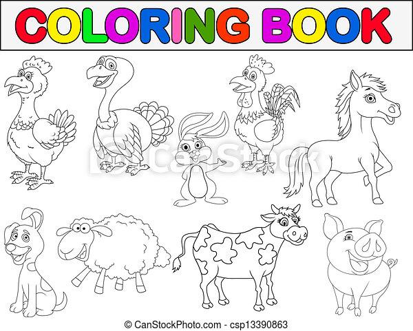Granja Libro Colorear Animal