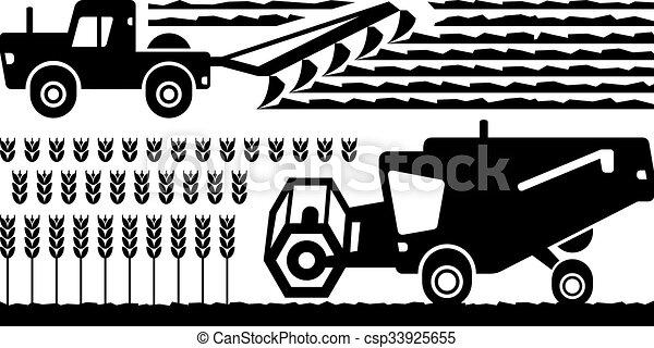 Granja de maquinaria agrícola - csp33925655