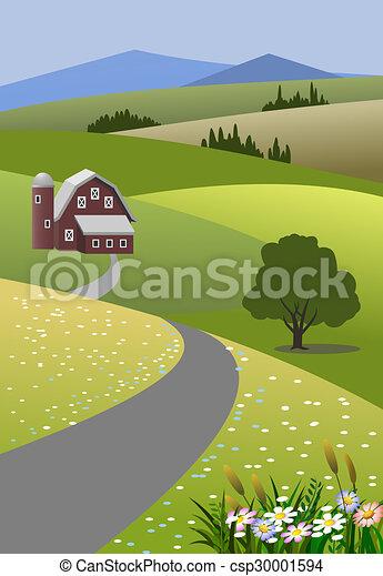 Paisaje de granja - csp30001594