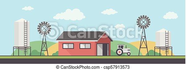 Paisaje de granja - csp57913573
