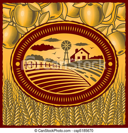 La granja Retro - csp5185670