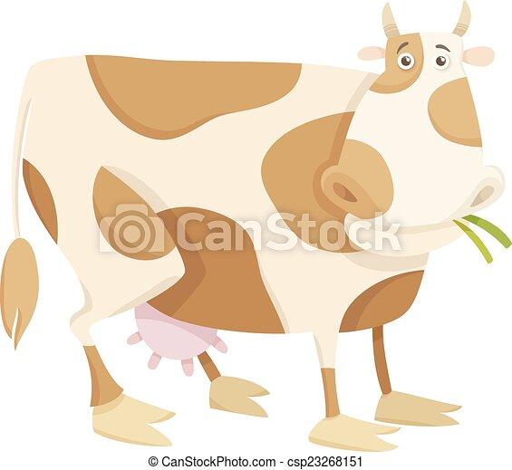 La ilustración de animales de granja de vacas - csp23268151