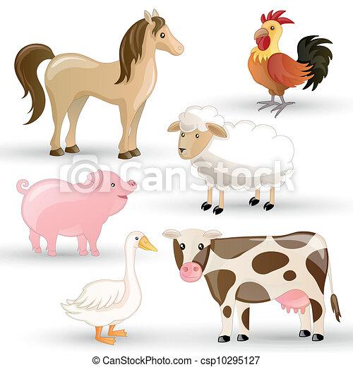 granja, vector, animales - csp10295127