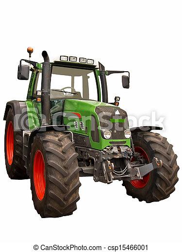 Un tractor de granja verde - csp15466001