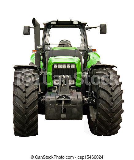 Un tractor de granja verde - csp15466024