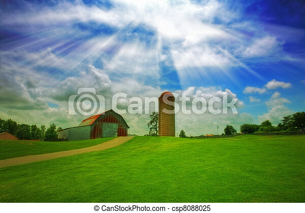 granja, viejo - csp8088025