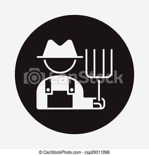Ícono granjero - csp29311896