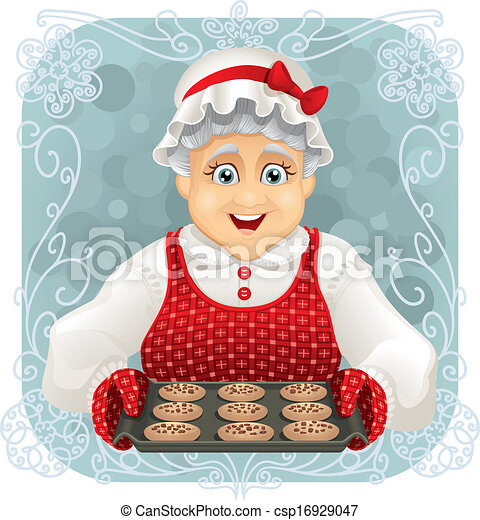 Granny Baked Some Cookies  - csp16929047