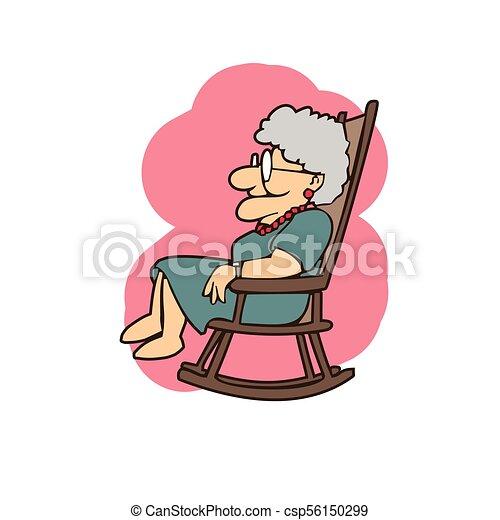 Granny In A Rocking Chair Cartoons Nenek Di Kursi Goyang Kartun