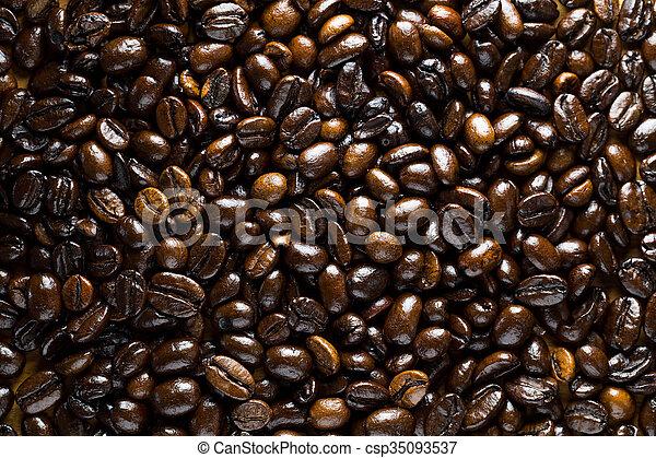 Frijoles de café - csp35093537