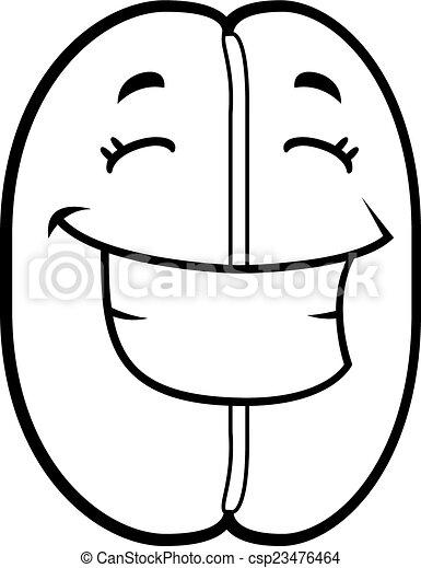 Frijoles de café sonriendo - csp23476464