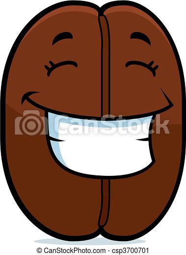 Café con frijoles sonriendo - csp3700701