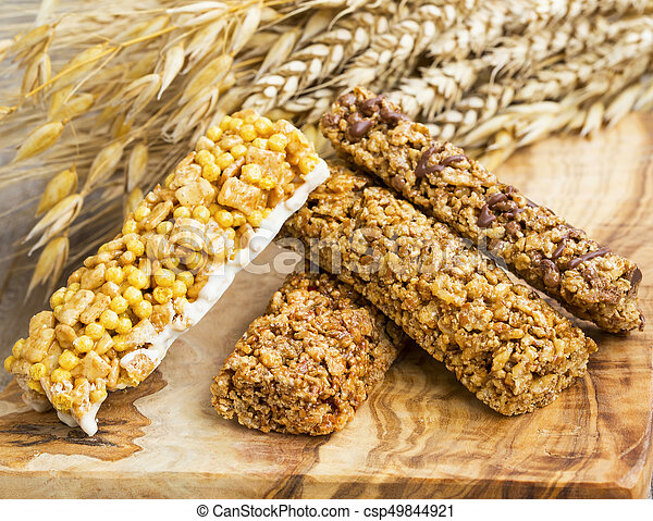 Granola bars  Healthy nuts and cereals protein snack bars