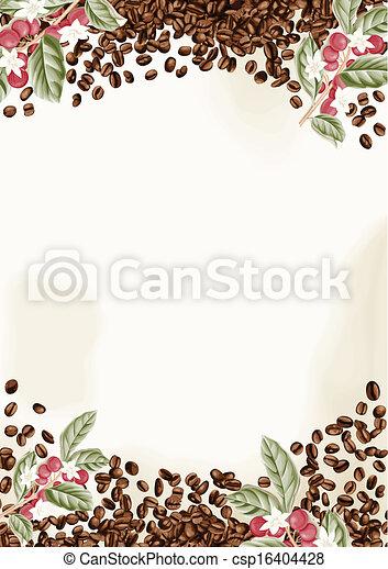 Fondo de granos de café - csp16404428
