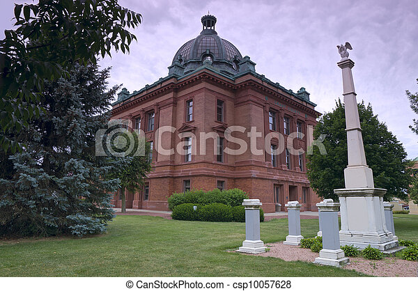 Grant County Courthouse and Memorials - csp10057628