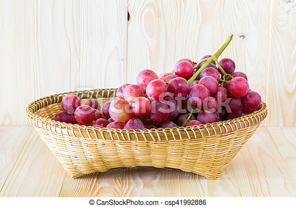 Grape in a fruit tray - csp41992886