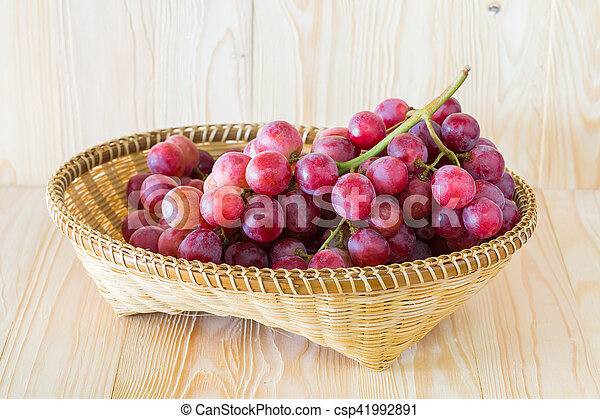 Grape in a fruit tray - csp41992891