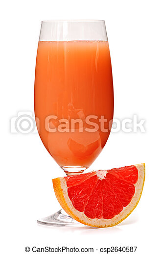 Grapefruit juice in glass - csp2640587