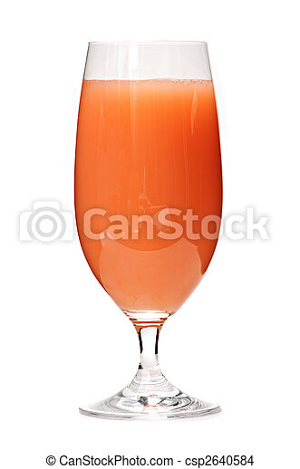 Grapefruit juice in glass - csp2640584