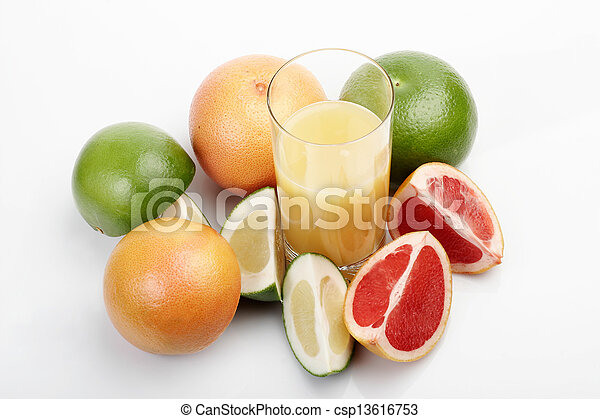 Grapefruit & juice - csp13616753