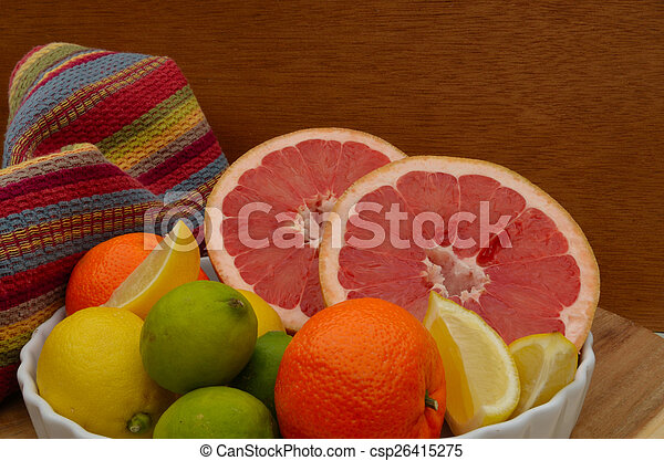 Grapefruit, orange, lemon, lime - csp26415275