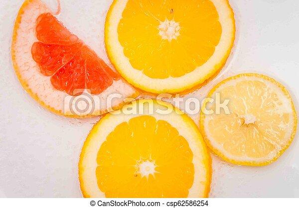grapefruit, orange lemon - csp62586254