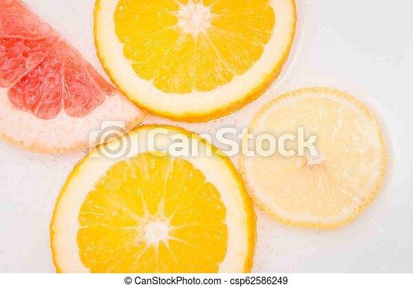 grapefruit, orange lemon - csp62586249