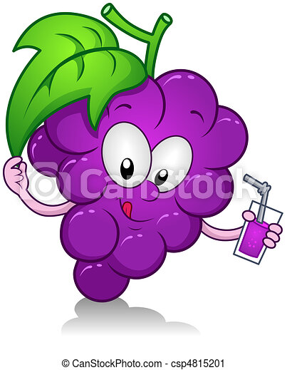 grapes drink illustration of a grape character holding a drink rh canstockphoto com grape clip art black and white grapes clip art free download