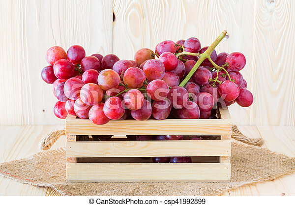 Grapes in wooden crates - csp41992899