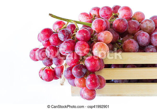 Grapes in wooden crates - csp41992901