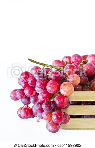 Grapes in wooden crates - csp41992902