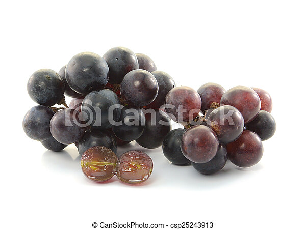 Grapes isolated on white background - csp25243913