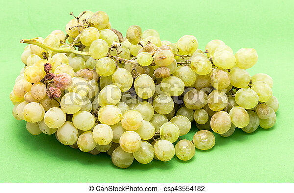grapes on a green background - csp43554182