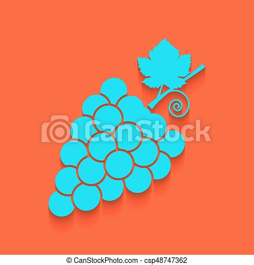 grapes sign illustration vector whitish icon on brick wall clip rh canstockphoto com  brick wall background clipart black and white