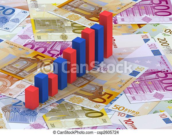 Graph bars on Euros - csp2605724