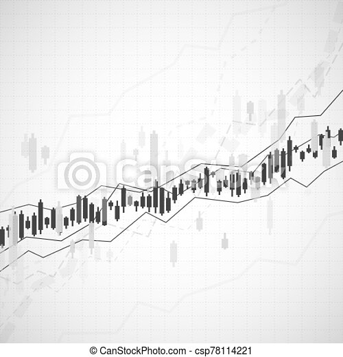 Graph chart of stock market investment trading. Monitor finance profit and statistic. Abstract analisys and statistic diagram. vector - csp78114221