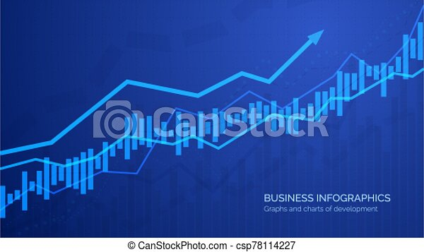Graph chart of stock market investment trading. Monitoring finance profit and statistic. Abstract analisys and statistic diagram. vector illustration - csp78114227