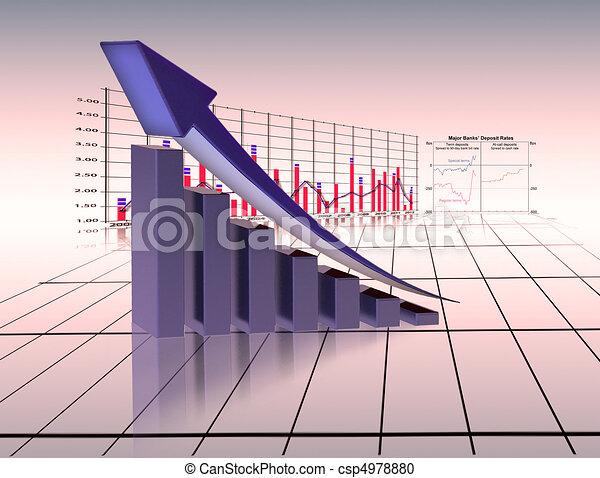 graph economy - csp4978880